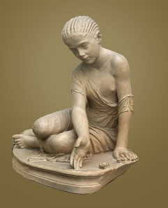 A young Roman girl playing knucklebones. (source: Wiki)