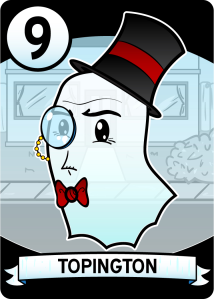 One of your nine numbered ghost cards used for possessing unsuspecting kids and eat their candy.