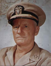 "From the rulebook: ""Admiral Chester Nimitz became Commander-in-Chief of the US Pacific Fleet on December 31, 1941... One of Admiral Nimitz's many successful strategies was giving out as much information as possible to those who would be involved in a battle. He recognized that the officers making the immediate battlefield decisions would benefit from all the intel available. He chose the battle locations, the ships involved, and the key targets, but trusted the tactical decision making to the officers in charge. For this reason, Admiral Nimitz was well liked, respected and immediately successful in battle. In 1945, he earned the rank of Chief of Naval Operations, which he retained until his retirement from active duty in 1947."""