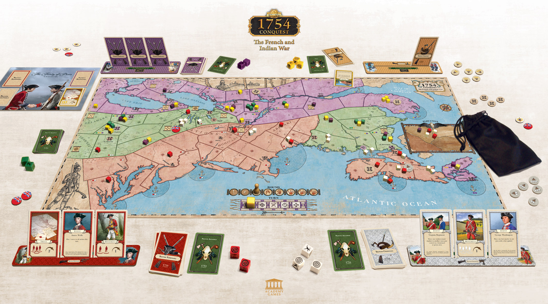 The Board Game Show Reviews 1754 Conquest | 1754: Conquest – The French and  Indian War | BoardGameGeek